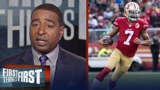 Cris Carter reacts to the Houston Texans considering signing Colin Kaepernick | FIRST THINGS FIRST