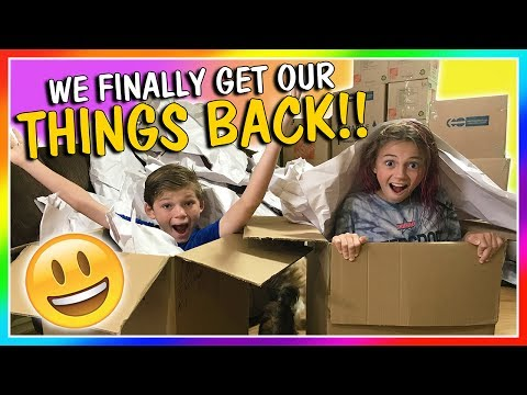 WE FINALLY GET OUR THINGS BACK!  UNBOXING REVEALS  We Are The Davises