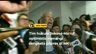 Tim hukum Jokowi-Ma'ruf optimistis menangi sengketa Pilpres di MK