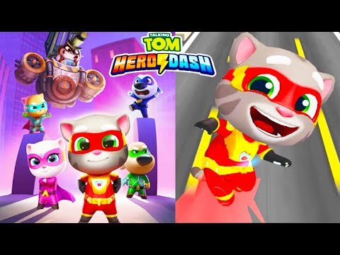 My Talking Tom Hero Dash NEW GAME! Super outfit unlocked & fully upgraded | Hack game apk mod