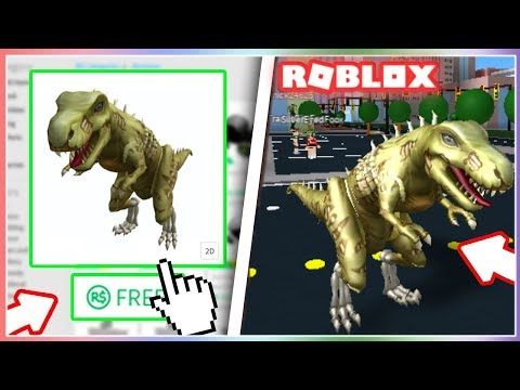 How To Get The T Rex Skeleton Bundle On Roblox New Youtube