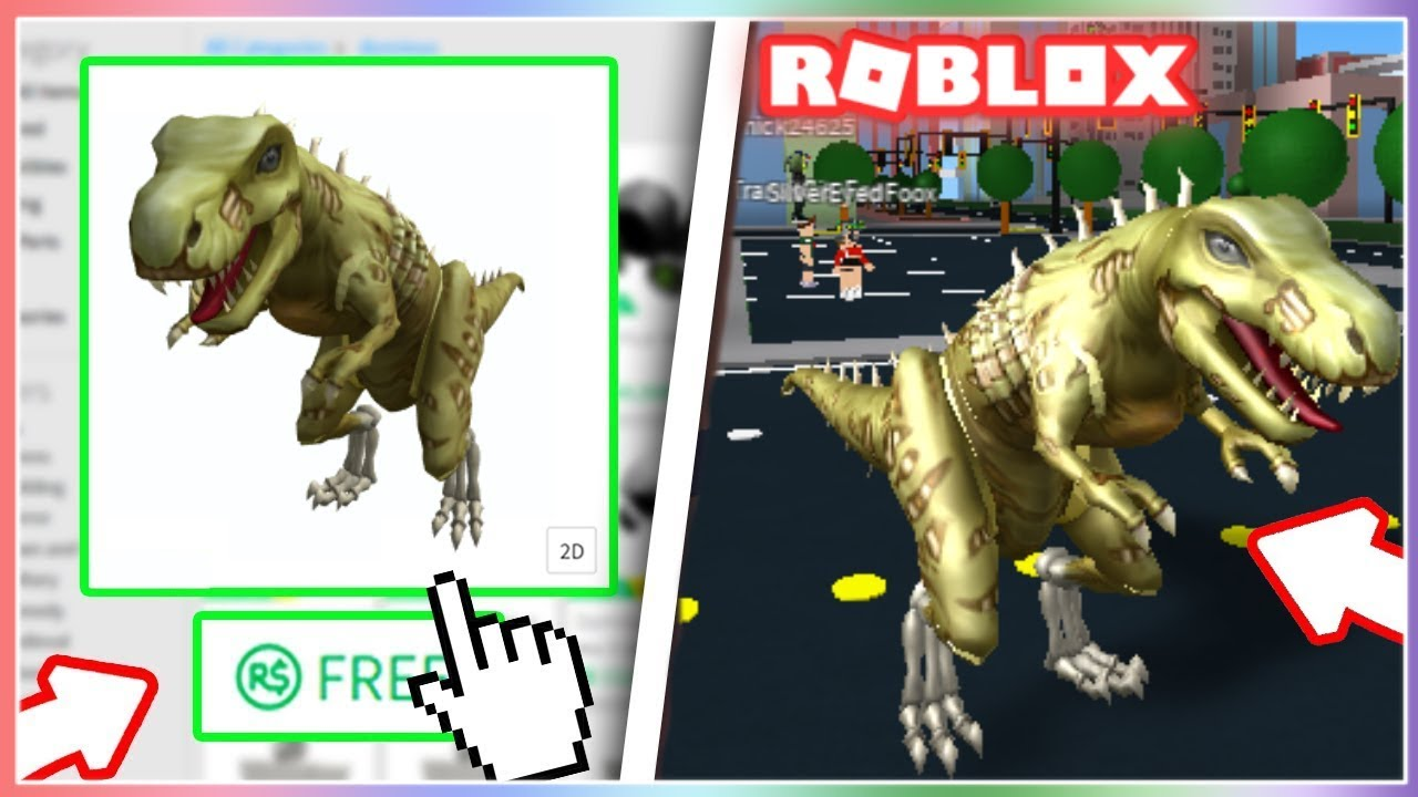 How To Get The T Rex Skeleton Bundle On Roblox New Youtube - roblox dinosaur code free roblox jailbreak