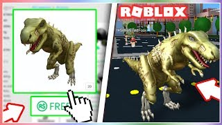 How To Get The T-REX SKELETON Bundle On ROBLOX! *NEW*