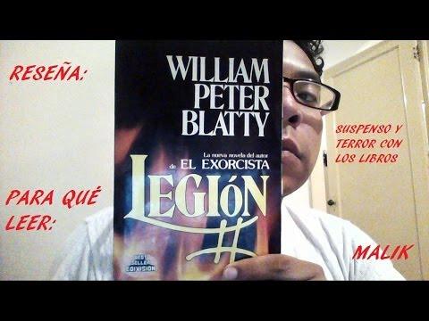LIBROS DE TERROR: LEGIÓN DE WILLIAN PETER BLATTY