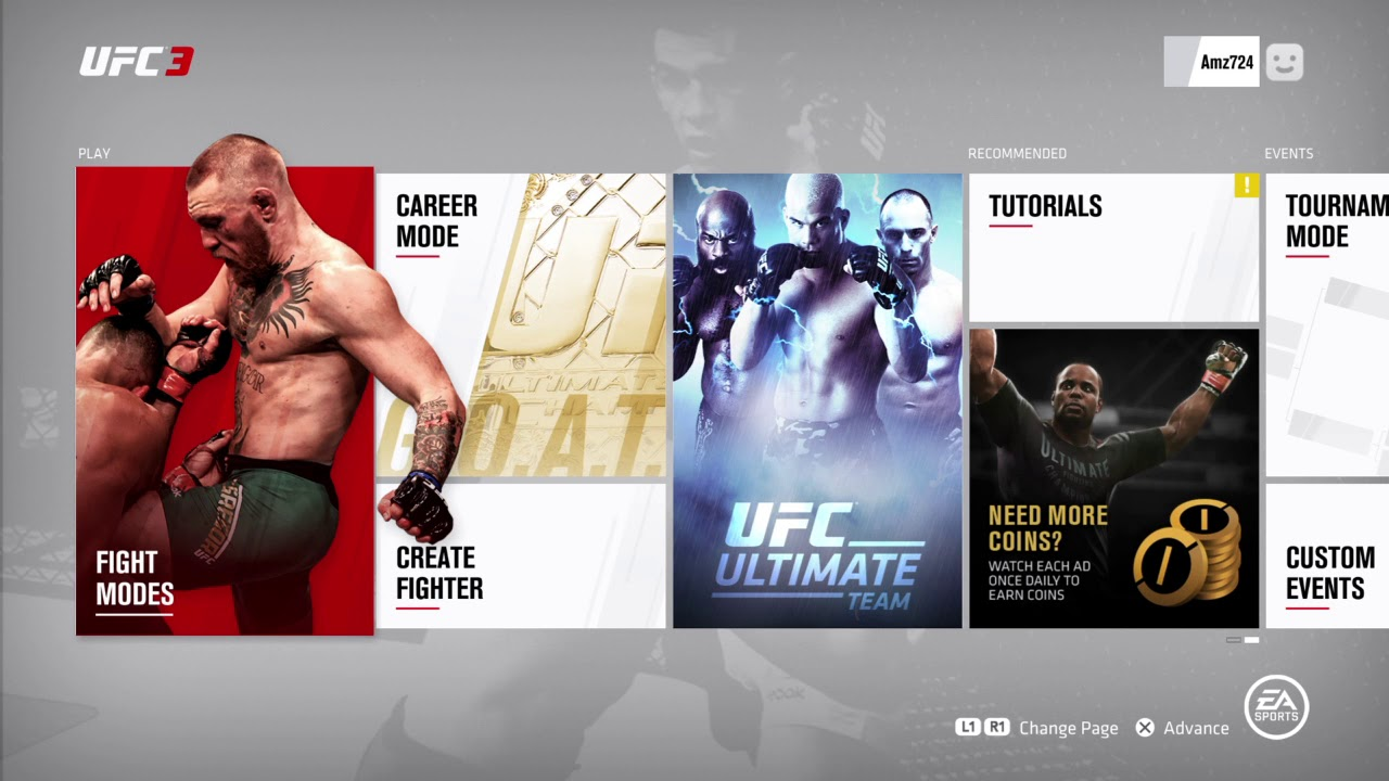 Ea Sports Ufc 3 Menu Youtube