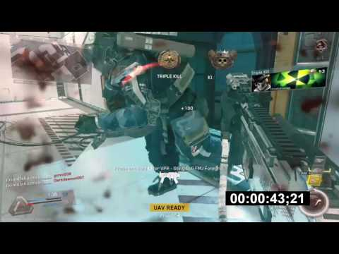 """IW: SOLO """"83 SEC DE-ATOMIZER STRIKE"""" ON FRONTIER W/HVR (IW FAST NUKE GAMEPLAY)"""
