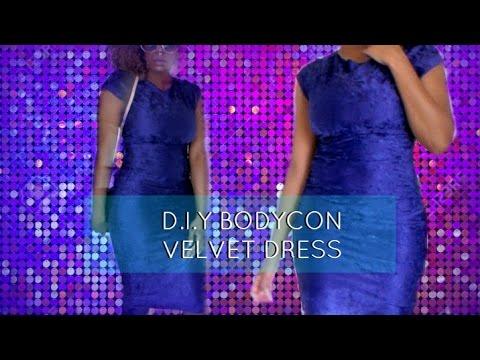D.I.Y BODYCON VELVET DRESS