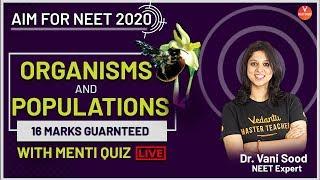 Organism and Population | CBSE Class 12 Biology | AIM for NEET 2020 | Dr. Vani Ma'am | Vedantu