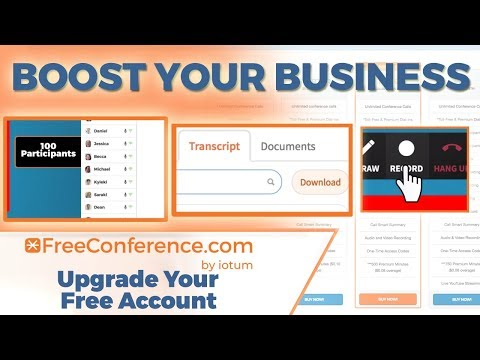 Boost Your Business by Upgrading Your FreeConference Account