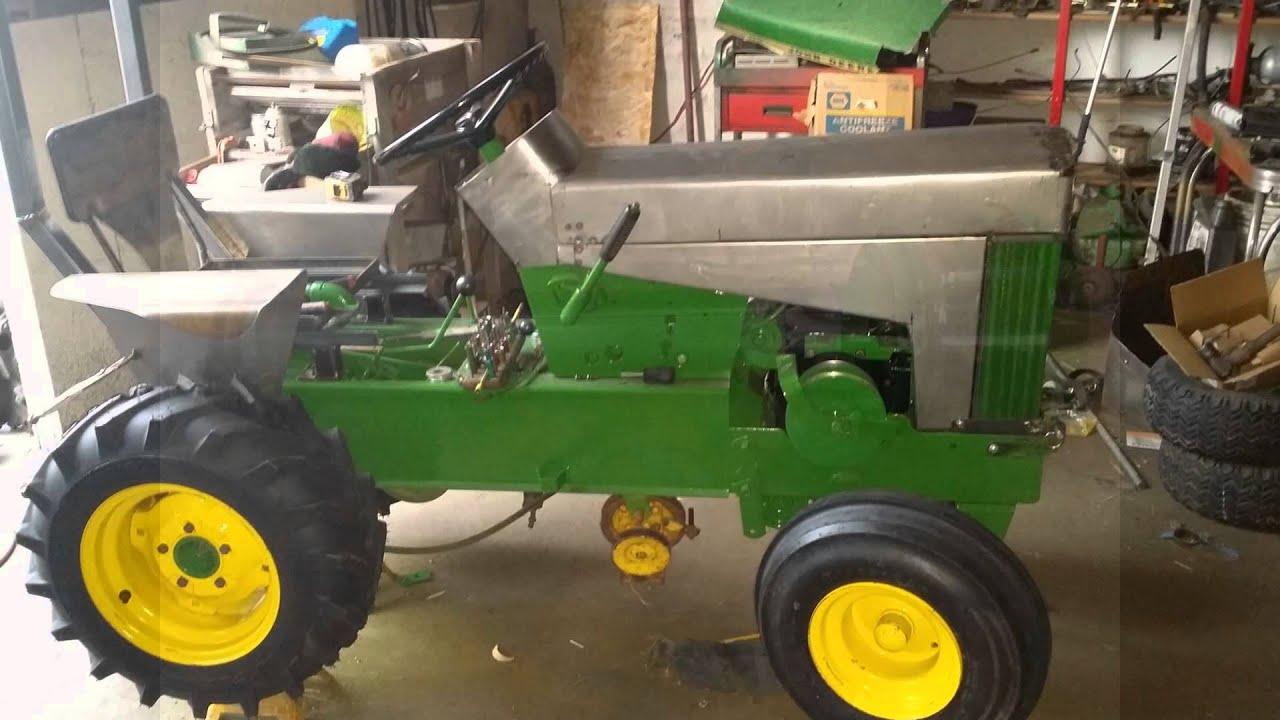 John Deere 112 Garden Tractor Restore Youtube