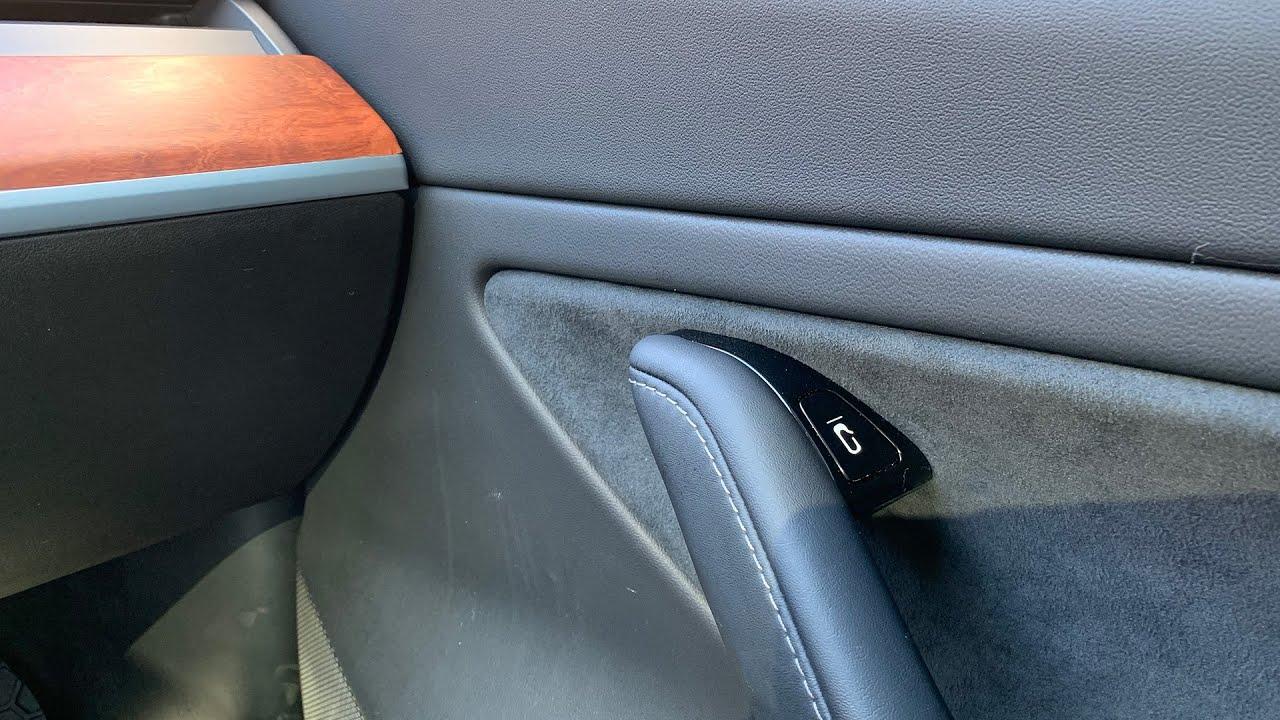 Tesla Model 3 door button stickers