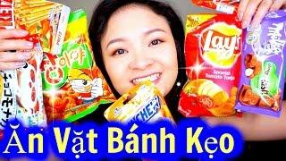 Thử Ăn Vặt Bánh Kẹo Nhật, Hàn Quốc, Mỹ   Try Snack and Candy ♡ BeeSweetiee