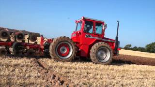 Rare 1979  Articulated Massey Ferguson 1250 Ploughing at West Mains.SW Scotland.