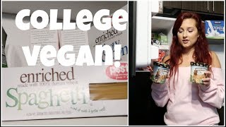 What's in my *College* Fridge / Pantry! | VEGAN