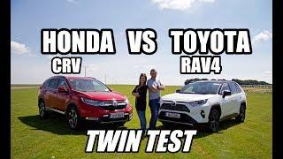 Toyota Rav 4 hybrid Versus Honda CR-V hybrid | Best SUV twin test
