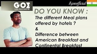 Online Education - Types of Meal Plans at Hotel #hotelmealplan
