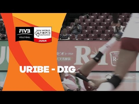 Strong defense from Peru's Mirtha Uribe - Women's OQT Japan 2016