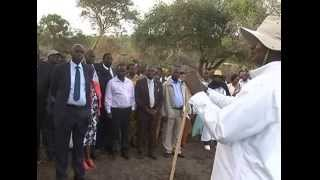 M7 ,JM AND KARAMOJA LEADERS AT HIS RWAKITURA FARM