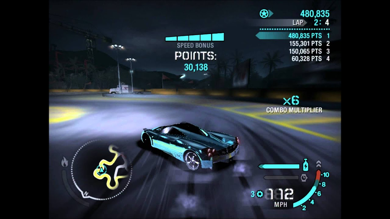 need for speed carbon drifting pagani huayra 1,303,781 points - youtube