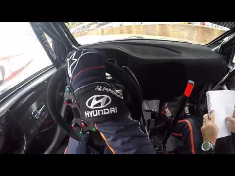 Hayden Paddon POV Helmet Camera Rally Legend 2016 Hyundai i20 WRC