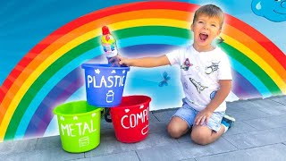 Clean Up Trash song Nursery rhyme Kids song