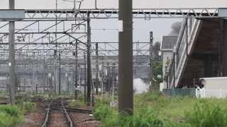 磐越西線 110k600 上り C57180 8226レ 新津駅出発
