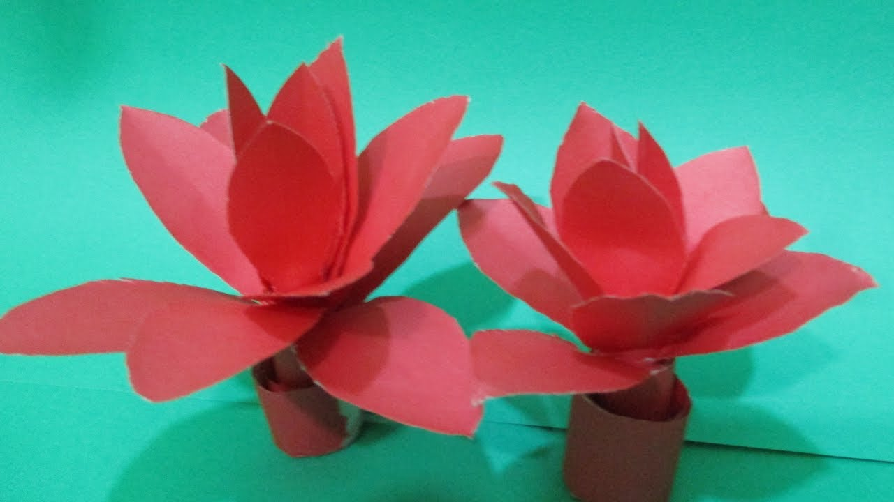 How To Make A Paper Flower Easy Origami Paper Flowers Water