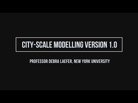 City-scale Modelling Version 1.0