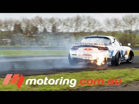 Behind the scenes with Mad Mike's Mazda RX-7 | motoring.com.au - Dauer: 6 Minuten, 53 Sekunden