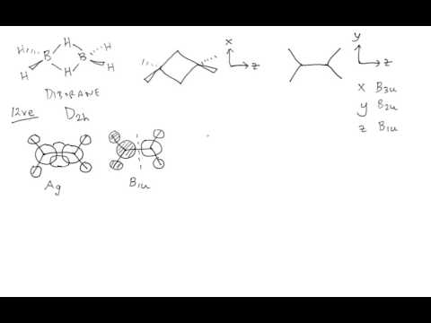 Deriving diborane molecular orbitals