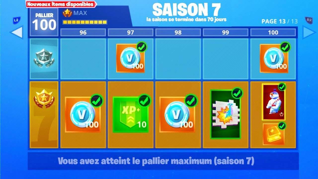 Passe De Combat Saison 7 Fortnite Battle Royale Youtube