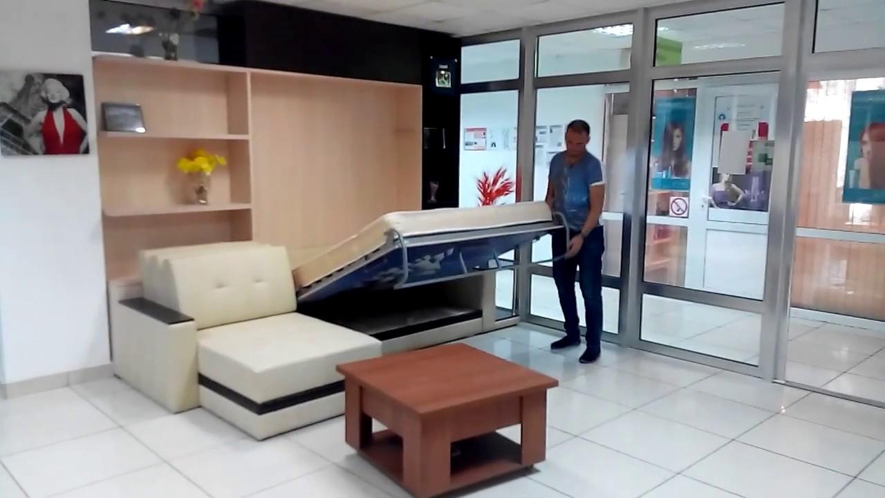 откидная кровать с угловым диваном Youtube