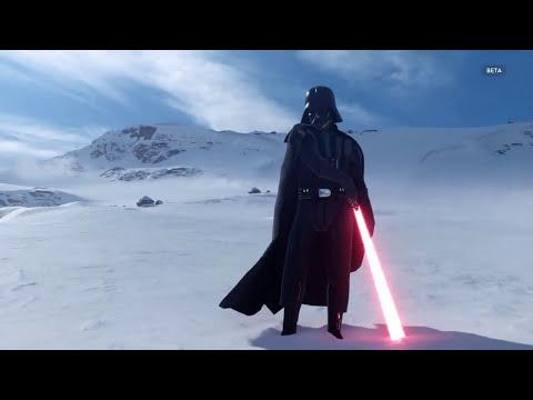 Star Wars Battlefront Snowtrooper + Darth Vader Gameplay