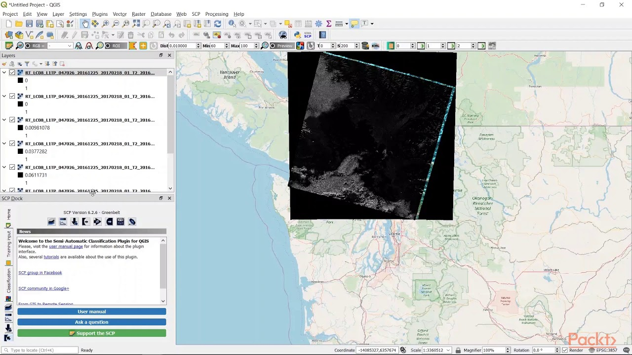 Hands-On Geospatial Analysis with R and QGIS 3 4: Landsat Data Query &  Process in QGIS packtpub com