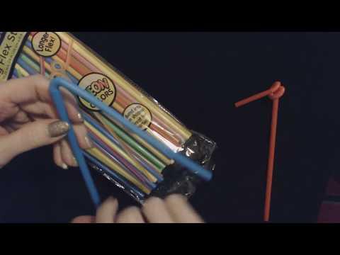 ASMR Request | Handling Plastic Bendy Straws