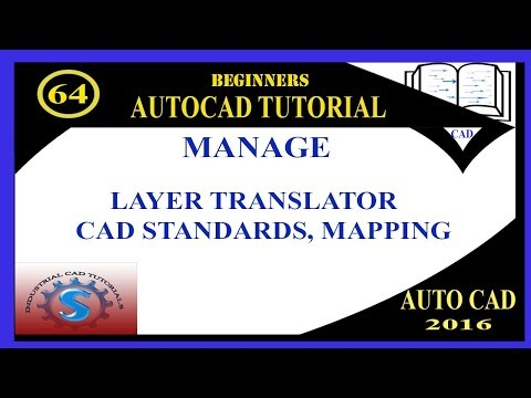 LAYER TRANSLATOR || MAPPING || CAD STANDARDS || BASIC TUTORIALS FOR BEGINNERS || AUTO-CAD 2016