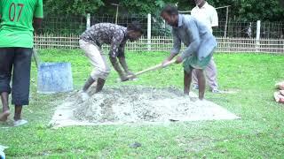 Jalsa Gah wall construction inaugurated in Bangladesh