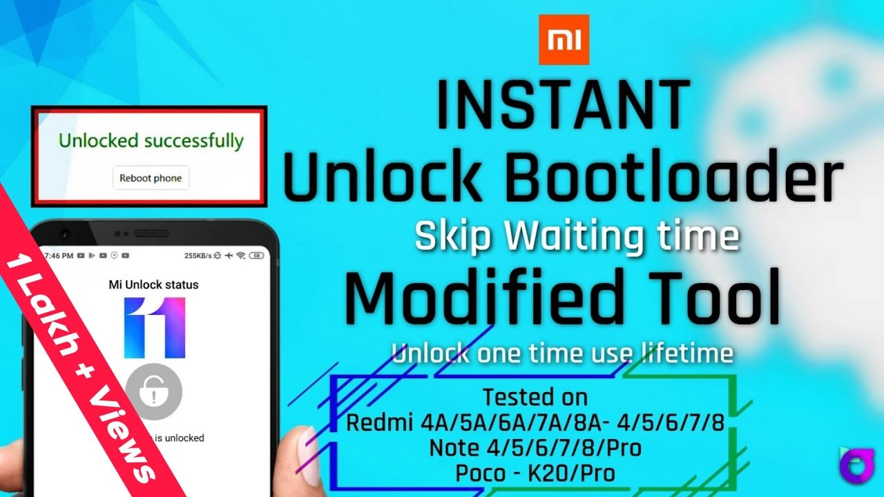 Instant Unlock Bootloader – All Xiaomi Phones | No Waiting time unlock in One minute | 100% Working
