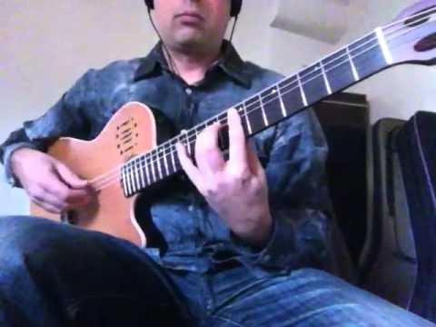 The Hellion/Electric Eye (Judas Priest) Flamenco guitar-Ben Woods - Godin