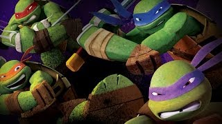Teenage Mutant Ninja Turtles Theme Song (2012-2014) with Ly...