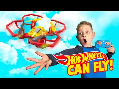 Hot Wheels Cars can fly!! Drone Racers Toys Review for KIDS