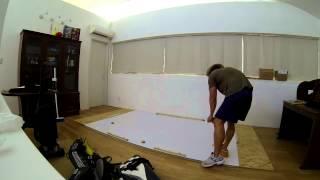 Homemade Goalie Slideboard