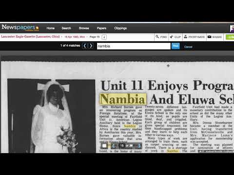 Mandela Effect Residue for Nambia