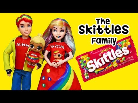 SWTAD LOL Families ! The Skittles Family Saves the Day | Toys and Dolls Pretend Play Fun for Kids