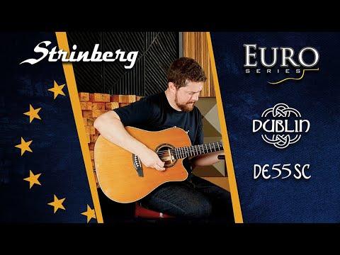 SOUND CHECK - Violão Strinberg modelo Dublin - DE55SC, Euro Series.