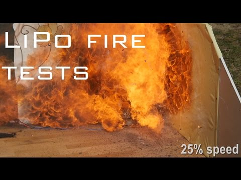 How to store LiPo battery safely - In depth LiPo fire tests