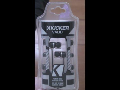 Kicker Valid EB102B Earbud Review