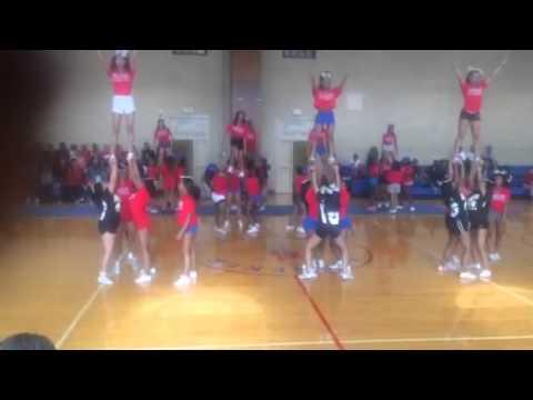 Banneker High School Cheerleaders Pep Rally 2014