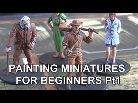 Tutorial: (Pt1/2) How to paint a boardgame miniature for beginners.