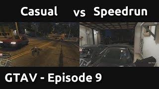 Casual VS Speedrun in GTAV #9 - Flying Fast, Driving Faster